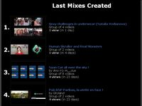 Last created mixes of Youtube videos, just done by Internet users