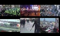 Street protests, all the same. UK, USA, Spain, Egypt, France.