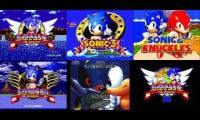 6 Sonic The Hedgehog Boss Theme's Playing At The Same Time