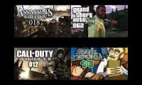 Assasins creeds, call of duty and Grand Theft Auto