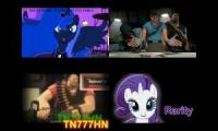 sparta Phantom remix quadparison (team fortress 2 vs my little pony)