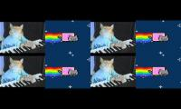 nyan cat vs keyboard cat space form