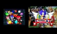 Sonic 4 vs 8 bit super sonic racing