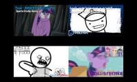 sparta drlasp v2 remix quadparison (asdfmovie vs my little pony)