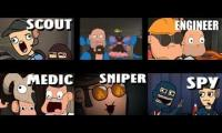 Meet The Amazing Team All At The Same Time (TF2 Animation)