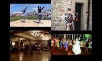 Scottish sword dance and Bagpipes