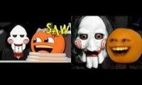 oringinal vs animated round 1 annoying orange saw