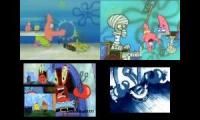 Patrick VS. Mr Krab's - Sparta Quadparison