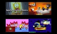 spongebob my talking tom the powerpuff girls and klasky csupo sparta remix