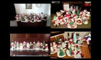 All the caroling snowmen gone crazy
