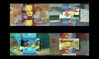 (YTPMV) Spongebob Squarepants Season 1 Episodes 1 2 3 and 4 a scan quadparison