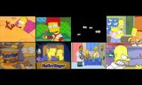 all the simpsons butterfingers at the same time