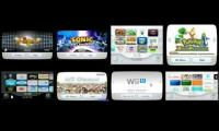 the wii menu of lots of wii games at once