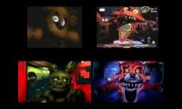 Sparta Remix Quadparison Five Nights at Freddy's 1234