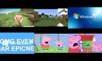 My Sparta Sixparison 2 Minecraft vs Windows vs Peppa Pig