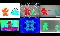 6 Noggin and Nick Jr. Logo Collections playing at once.