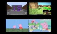 My Sparta Quadparison 21 (Peppa Pig VS Minecraft)