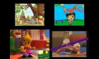 Playhouse Disney Vs. Nick Jr. Sparta Madhouse Quadparison