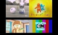 sparta cartoon network remix quadparison