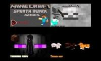 Minecraft has a Sparta Remix Quadparison