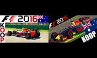 F1 2016 gameplay two perspectivs