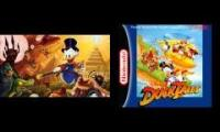 Ducktales Moon Theme side by side