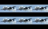 A-10 gun run overlapped