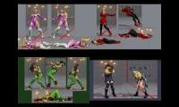 4 street fighter girls fails at training