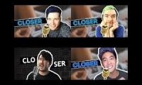 4 Youtubers one song: Closer