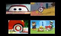 cars 3 (pink panther; mickey mouse clubhouse and paw patrol version)