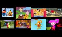 All of 8 tv shows played at once