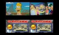 the simpsons vs kick buttowski up to faster quadparison