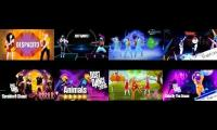 just dance songs playded at once