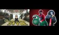 Gangnam Mario Style Comparison Video