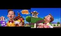 Lazy Town the mine song (English vs Spanish)