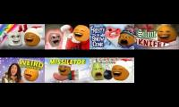 every annoying orange christmas song playded at once