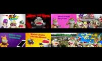 16 Super Mario Richie Videos At The Same Time (1st and 2nd Rows)