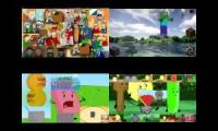 sparta gamma remix object show vs eddsworld vs minecraft