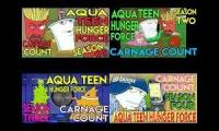 Aqua Teen Hunger Force Season 1 2 3 and 4 (2000 - 2005) Carnage Count