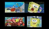 Spongebob Squarepants Sparta remixes Quadparison
