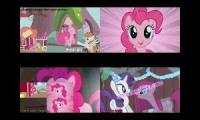 (MLP) - Best of Pinkie Pie Sparta remixes Quadparison