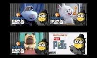 Brian The Minion Quadparison (THE SECRET LIFE OF PETS)