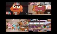 The Amazing world of Gumball Sparta remixes Quadparison 2