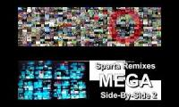 Sparta Remixes MEGA Side-By-Side Quadparison