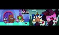 Unikitty, Puppycorn, Hawkodile & Dr. Fox crying Sparta Remix 2P