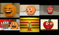 The annoying orange (hey apple!) realistic vs animation vs 3 Legos vs Go animate