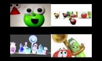 Veggie tales vs Shapetales Theme Song 2010 2014 with fanmades