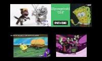 Sparta Quadparison My Talking Tom SpongeBob Zim