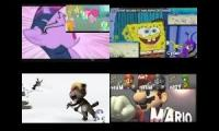 My little pony SpongeBob my talking tom mario sparta quadparison
