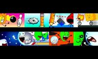 Every episode of the whole BFDI series played at once Part 3 (synced)